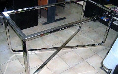 ława stolik stoliczek stal nierdzewna ze stali nierdzewnej